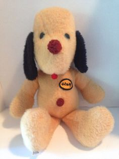Vintage 1971 20'' Animal Fair Henry the Dog Stuffed Plush Toy Animal   #AnimalFair