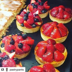 #Repost @pastrypants with @repostapp @bakelikeapro  What did one strawberry say to the other strawberry? If you weren't so sweet we wouldn't be in this jam!  Tartlette Saison & Tartlette Fraise #berriesoverload #fruitonthetop #fraise #frenchpastry #patisserie