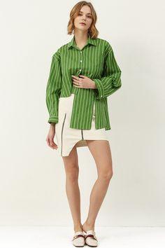 Lucy Zipper Cut Out Skirt  >>Discover the latest fashion trends online at storets.com #skirt #cutoutskirt #zipperskirt