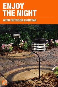 Add style and security to your home with new outdoor lighting and fixtures from The Home Depot. Shop our selection of decorative exterior lights, landscape lighting and security lighting. Plus, the spotlights, flood lights and solar lights you need. Patio Design, Garden Design, Landscape Design, Backyard Lighting, Outdoor Lighting, Outdoor Decor, Garden Yard Ideas, Garden Projects, Outdoor Projects