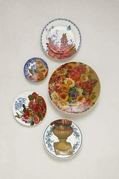Baroque Flowers Plate Collage#Anthropologie #PintoWin