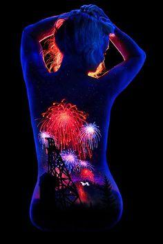body painting black light                                                                                                                                                                                 More