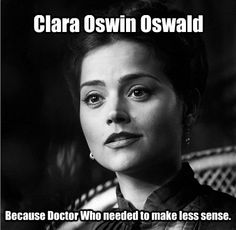Because Doctor Who needed to make less sense.