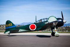 The CAF's Mitsubishi A6M3 Zero. Commemorative Air Force