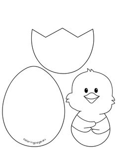 Quite a lot of Easter crafts! Lot& of Easter crafts templates! - Quite a lot of Easter crafts! Lot& of Easter crafts templates! Easter Art, Easter Crafts For Kids, Crafts To Do, Felt Crafts, Easter Ideas, Easter Activities, Preschool Crafts, Easter Egg Template, Easter Coloring Pages
