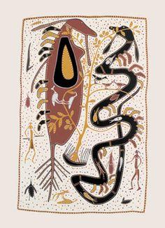 In the Beginning of Time - Paddy Fordham - Screenprint - PF003 - Aboriginal and Torres Strait Islander Art Prints