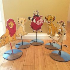 Hey, I found this really awesome Etsy listing at https://www.etsy.com/listing/236079718/lion-king-centerpiece-simba-pumba-timon
