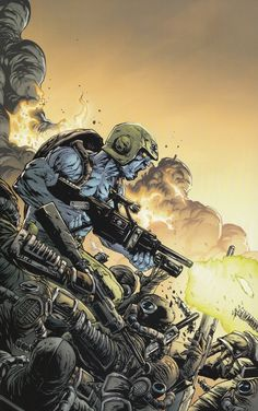 Rogue Trooper - Last Man Standing Comic Book Pages, Comic Book Covers, Comic Books Art, Comic Art, Sci Fi Comics, War Comics, Abc Warriors, 2000ad Comic, Starship Troopers