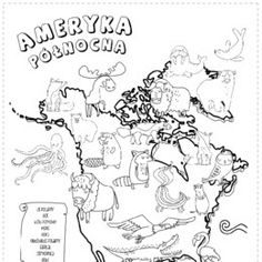 Animals of the world – continent map - Printoteka. Stem Science, Science For Kids, Montessori Activities, Book Activities, Preschool Social Studies, Geography For Kids, Polish Language, Kindergarten Art, School Notes
