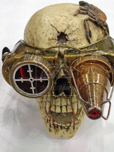 Steampunk Skull by Android18-SL.deviantart.com