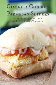 Ciabatta Chicken Parmesan Sliders with Kraft Fresh Take #FreshTake #shop #cbias www.livingbettertogether.com
