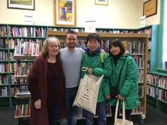 Visitors to Skerries Library from Korea
