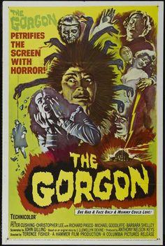 The Gorgon (1964) In early-twentieth-century middle-Europe, villagers are literally becoming petrified. Although the authorities try to hush the matter up, it is apparent that at the full moon, Megaer