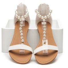 Dámske biele sandále AB0092W