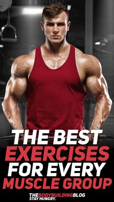 Find out what are the best exercises for every muscle group! #fitness #exercise #exercises #workout #gym #fitfam #gymlife