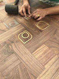 13 Wood Floor Parquet Design Wood Floor Parquet Design - Walnut parquet floors with brass inlays Kährs Wood flooring Parquet Interior Design Oak Natural Chevron Parquet Engineered.