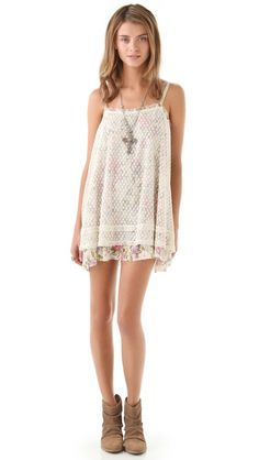 Click Image Above To Purchase: Free People Point D'esprit Slip Dress Fashion Advice, Fashion Outfits, Womens Fashion, Gauze Dress, I Love Fashion, Style Fashion, Dress To Impress, Style Inspiration, Clothes For Women