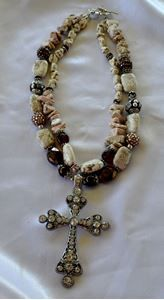 Brown Jasper and White Howlite Cowgirl Chunky NecklaceWhat Cowgirls Want