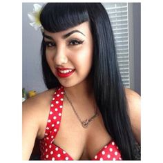 Bettie page bangs. She's gorgeous!