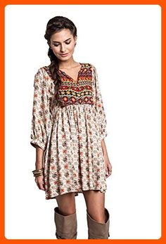 Umgee Women's Bohemian Tunic or Dress (Small, Taupe) - All about women (*Amazon Partner-Link)