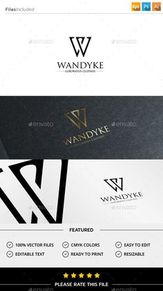Buy Letter W Logo by Exe-Design on GraphicRiver. 7 Logo, Typo Logo, Logo Branding, Branding Design, Letter W, Letter Logo, Graphic Design Tips, Logo Design Inspiration, English Logo