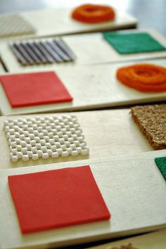 Homemade Texture Dominoes. What great ideas here. You could come up with lots of games and make this appropriate for even toddlers!