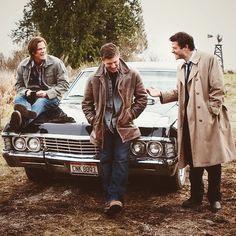 Sam, Dean, Castiel and Baby ~ Supernatural