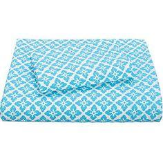 Foulard Percale Bedding- Blue and Lavendar