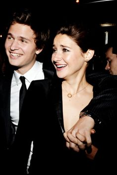 Ansel Elgort and Shailene Woodley attend the 2014 GQ Men Of The Year Party (December 4, 2014) THEY ARE HOLDING HANDS! I REPEAT THEY ARE HOLDING HANDS