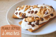 Delicious Peanut Butter S'mores - a figure friendly 4 WW+ dessert that you can enjoy with a friend!