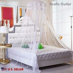 Lace-Bed-Mosquito-Netting-Mesh-Canopy-Princess-Round-Dome-Bedding-Net-MultiColor
