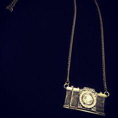 Vintage Camera Necklace by GodivasOperation on Etsy, $10.00