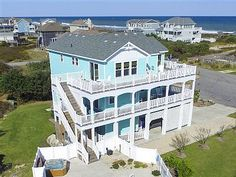 Beach Bubbles - 6 Bedrooms (5 Masters) Semi-Oceanfront in Caffey's Inlet in Duck | Travel | Vacation Ideas | Road Trip | Places to Visit | Duck | NC | HomeAway