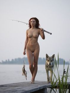 Fishing with loyal companion