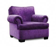 """""""The Classic"""" Purple Armchair - The Purple Store. Everything they sell is purple. Purple Love, All Things Purple, Shades Of Purple, Deep Purple, Purple Stuff, Purple Hearts, Purple Chair, Pink Chairs, White Chairs"""