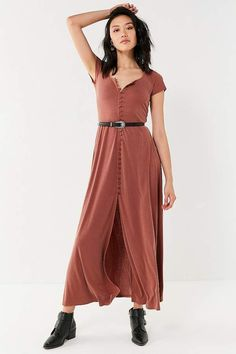 Urban Outfitters UO Buttoned Knit Maxi Dress