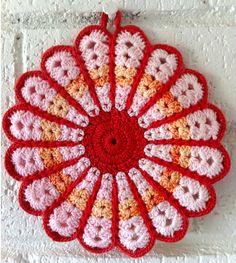 Crochet For Free: Vintage Daisy Potholder