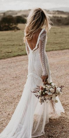 39 Boho Wedding Dresses Of Your Dream ❤ boho wedding dresses sheath v back with long sleeves rue de sheine wedding dress with sleeves CHRISTIE NICOLE BRIDAL — Love Find Co. Wedding Dress Tea Length, Boho Wedding Dress With Sleeves, Western Wedding Dresses, Bohemian Wedding Dresses, Long Sleeve Wedding, Lace Weddings, Wedding Dress Styles, Designer Wedding Dresses, Boho Dress