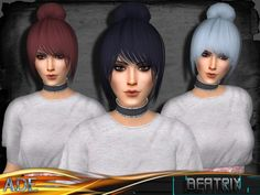 New Hair mesh ll 27 colors ll Support HQ ll no morph ll smooth bones assignment ll support with hats ll All LODs ll with Ambient Occlusion/Shadow Map  Found in TSR Category 'Sims 4 Female Hairstyles'