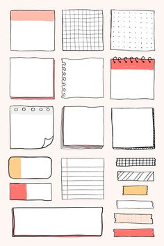 Bullet Journal School, Bullet Journal Banner, Bullet Journal Aesthetic, Bullet Journal Notebook, Bullet Journal Ideas Pages, Book Journal, Bullet Journal Inspo, Bullet Journal Vectors, Bullet Journal Frames