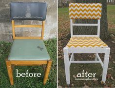 Chevron Stripe Chair In Yellow (with FREE Shipping) | Chairs, Yellow And  Chevron