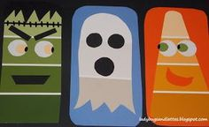 Halloween Cutting/Gluing Craft with Paint Chips