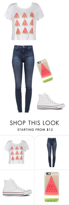 """"""""""" by directionerforevernava ❤ liked on Polyvore featuring Ally Fashion, J Brand, Converse and Casetify"""