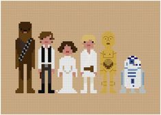 Pixel People  Star Wars  A New Hope  cross stitch pattern by weelittlestitches, $6.00    Happy Star Wars Day!
