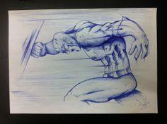Captain America  by Dave Baranes, via Behance
