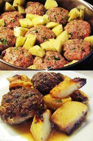 ΜΑΓΕΙΡΙΚΗ ΚΑΙ ΣΥΝΤΑΓΕΣ 2: Μπιφτέκια στον φούρνο με πατάτες !!! Cookbook Recipes, Cooking Recipes, Pot Roast, Pork, Beef, Ethnic Recipes, Cooking, Carne Asada, Kale Stir Fry