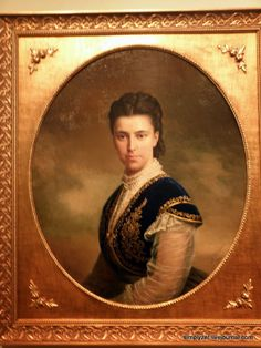 The unknown portrait of Dagmar, later Marie Feodorovna, mother of Nikolay II.  By Russian artist Turin, 1869 ~ click for more pictures of the Romanovs taken during the night in State Historic Museum in 2014 ~