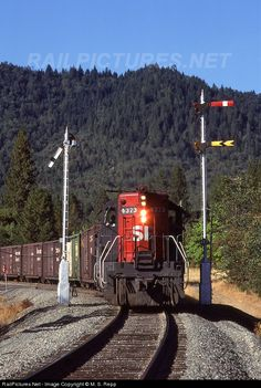 RailPictures.Net Photo: 4373 Southern Pacific Railroad EMD SD9 at Hugo, Oregon…