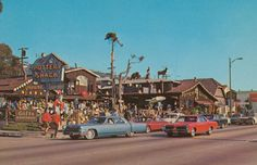 cardboardamerica:  Pottery Shack - Laguna Beach, California Greetings From Laguna Beach, California World Famous Pottery Shack Statue of Laguna Beach's official greeter may be seen in center left.