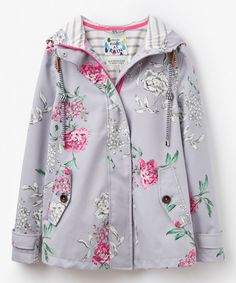Look at this Gray Floral Coast Raincoat on #zulily today!
